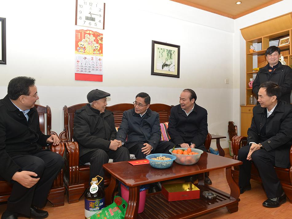 2018年2月,彭宇行副省长慰问公司离休职工